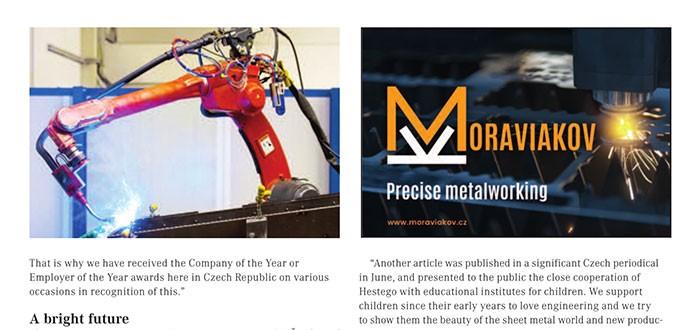 Artikel über Hestego in bedeutender europäischer Zeitschrift Inside Industry